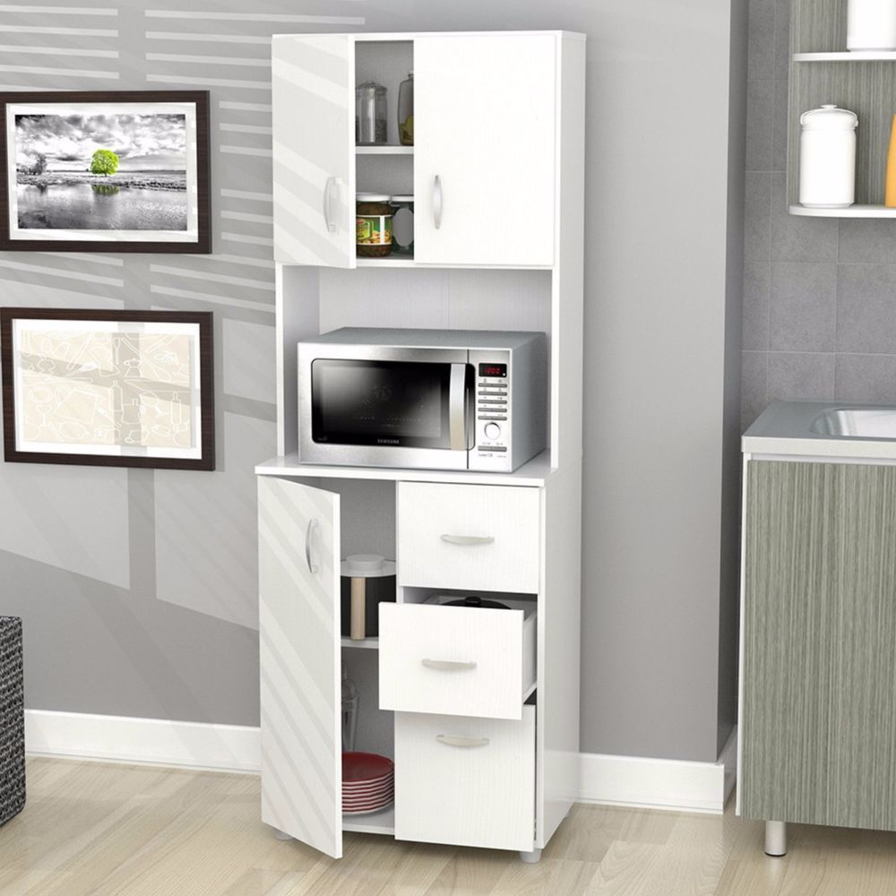 Microwave Cart Tall Cabinets And Storage Solutions Kitchen Cupboard ...