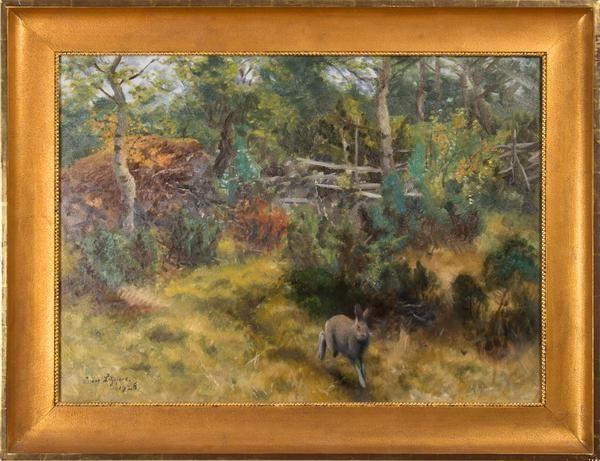 """Bruno Liljefors - """"Hare i höstlandskap"""" finns att köpa hos oss på Galleri Melefors / is available for purchase at Galleri Melefors #brunoliljefors #bruno #liljefors #art #konst #oilpainting #painting #forsale #woods #nature #hare #animal #sweden #konst #tavla #dekoration #olja #målning #oljemålning #nature #skog #sverige #klassisk #tillsalu #köp #gallerimelefors #melefors"""