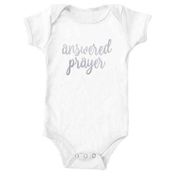 0a6ac7101 Answered Prayer Custom Personalized Pregnancy Announcement Onesie | Baby  Onesie Announcement | Photo Prop by canvasavenue