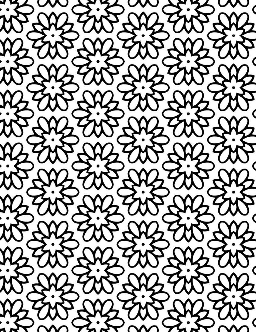 Coloring pages patterns - Pretty Coloring Sheet For Adults Flower Medallion Pattern