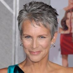 Jamie Lee Curtis Hairstyle Jamie Lee Curtis Celebrity Cropped Hairstyles Woman And Home In 2020 Crop Hair Short Cropped Hair Short Hair Styles