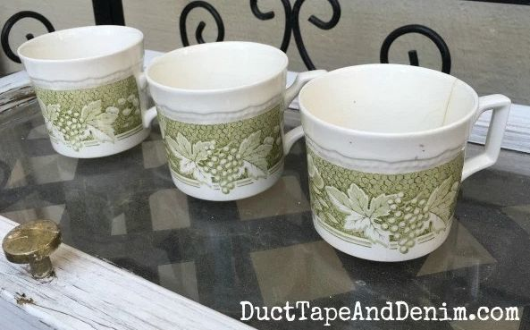 Planting Succulents in Vintage Tea Cups ~ Thrift Store Makeover!