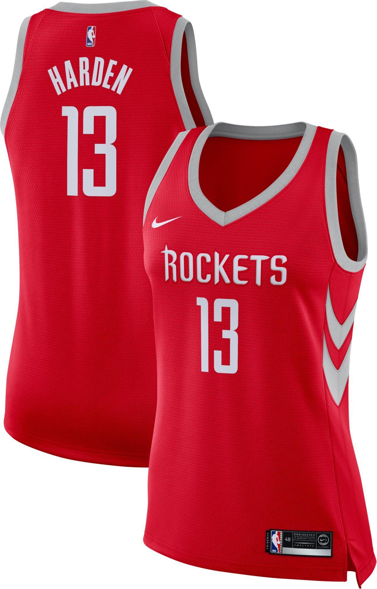 87e78e7eba9 Nike Women s Houston Rockets James Harden  13 Red Dri-FIT Swingman Jersey