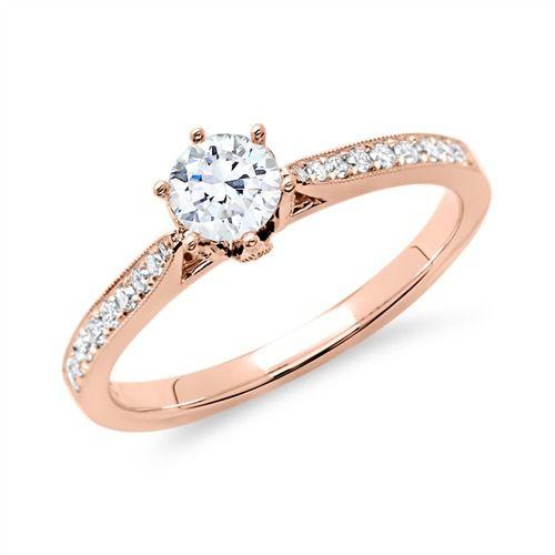 ring 585er ros gold f r diamanten v e r l o b u n g pinterest. Black Bedroom Furniture Sets. Home Design Ideas