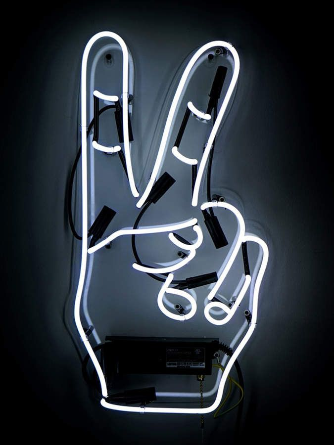 Oliver Gal Peace Victory Hand (Neon Sign) | Products | Neon signs