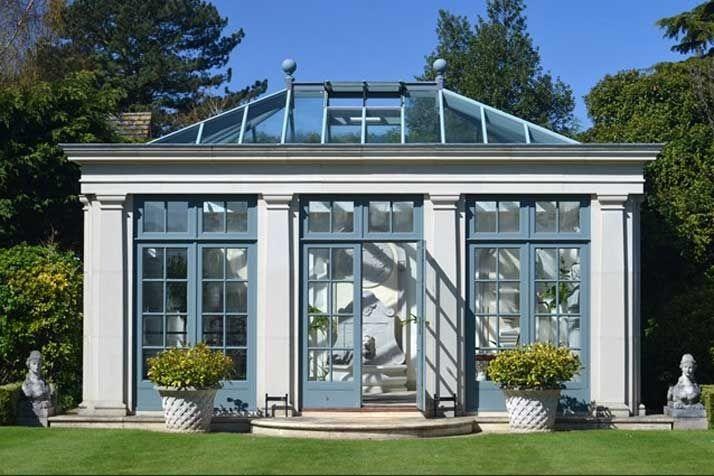 Orangerie Wintergarten glas haus ideen wintergarten orangerie haddonstone wintergarten