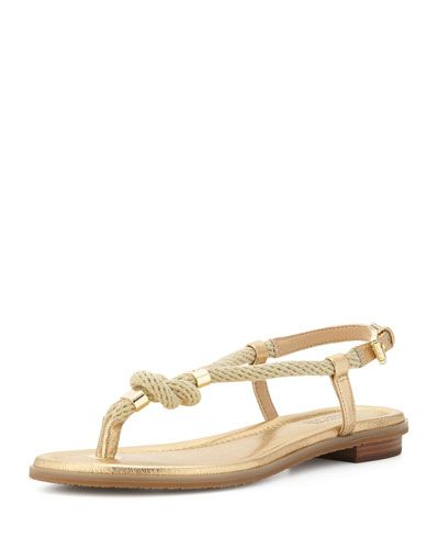 fa1f77e3f66e MICHAEL MICHAEL KORS Michael Michael Kors Holly Knotted Rope Sandal ...
