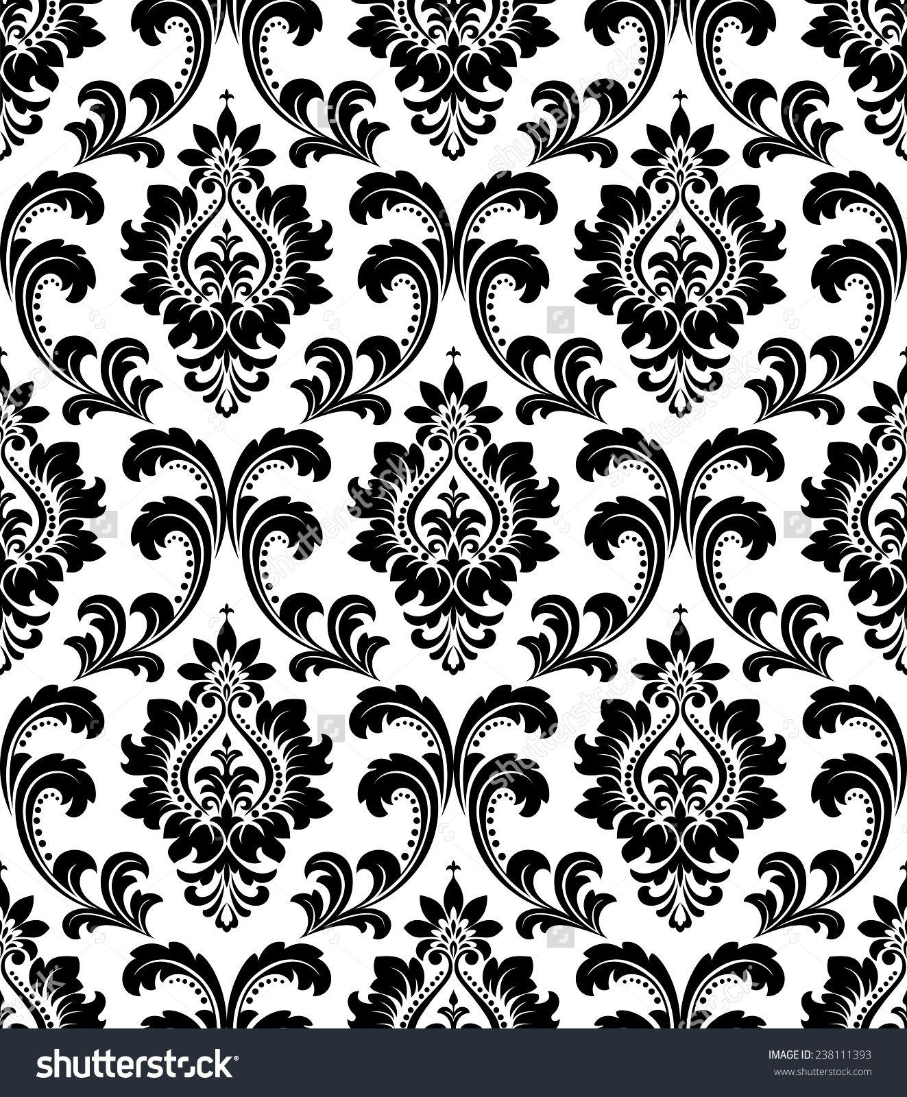 8 Best Images Of Black And White Floral Wallpaper Border Corner