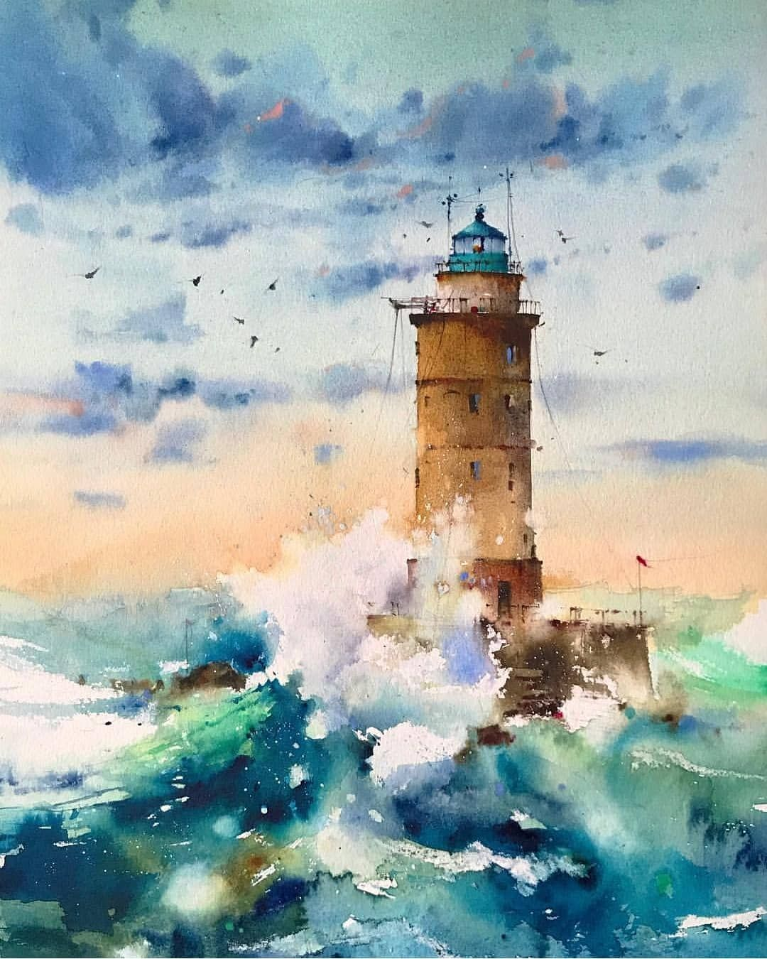 Watercolor By Blanca Alvarez Artist Art Artistic Artwork