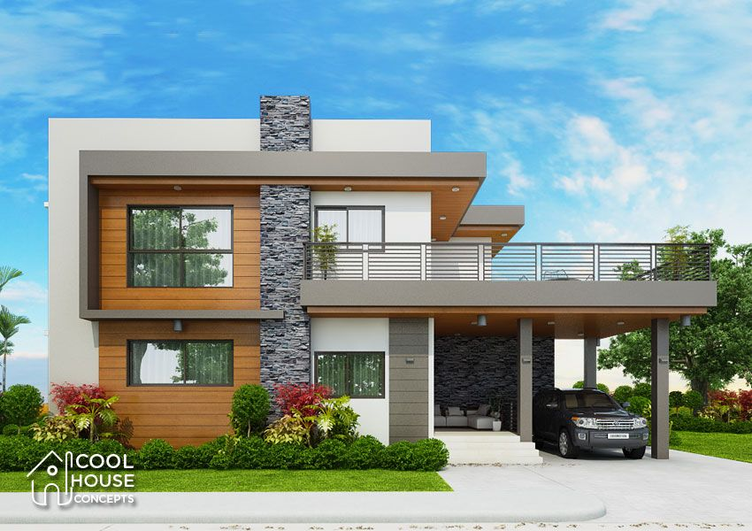 Two Storey Modern House Featured Today Has 4 To 5 Bedrooms And 4 Toilet And Bath With A Total Floor Modern House Plans House Outside Design House Front Design