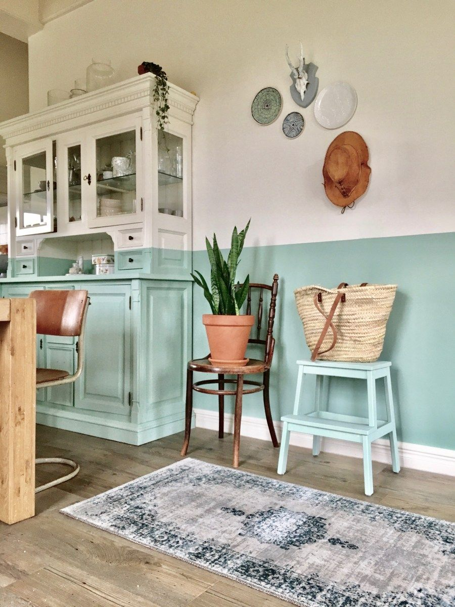 DIY Lambrisering verven op muur en kast Thuisdecoratie