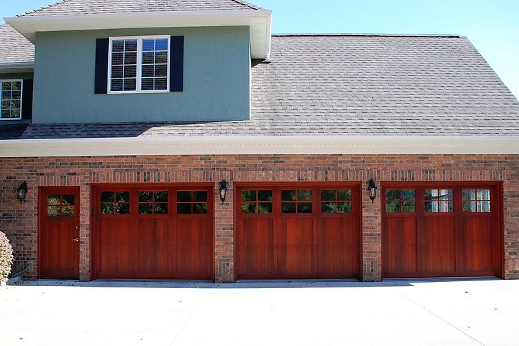 Signature Carriage Collection Custom Stained Wood Garage Door