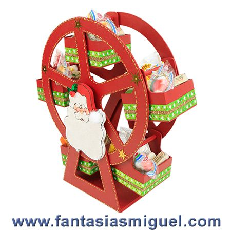 Carrusel dulcero santa como hacer manualidades - Manualidades para hacer en navidad ...