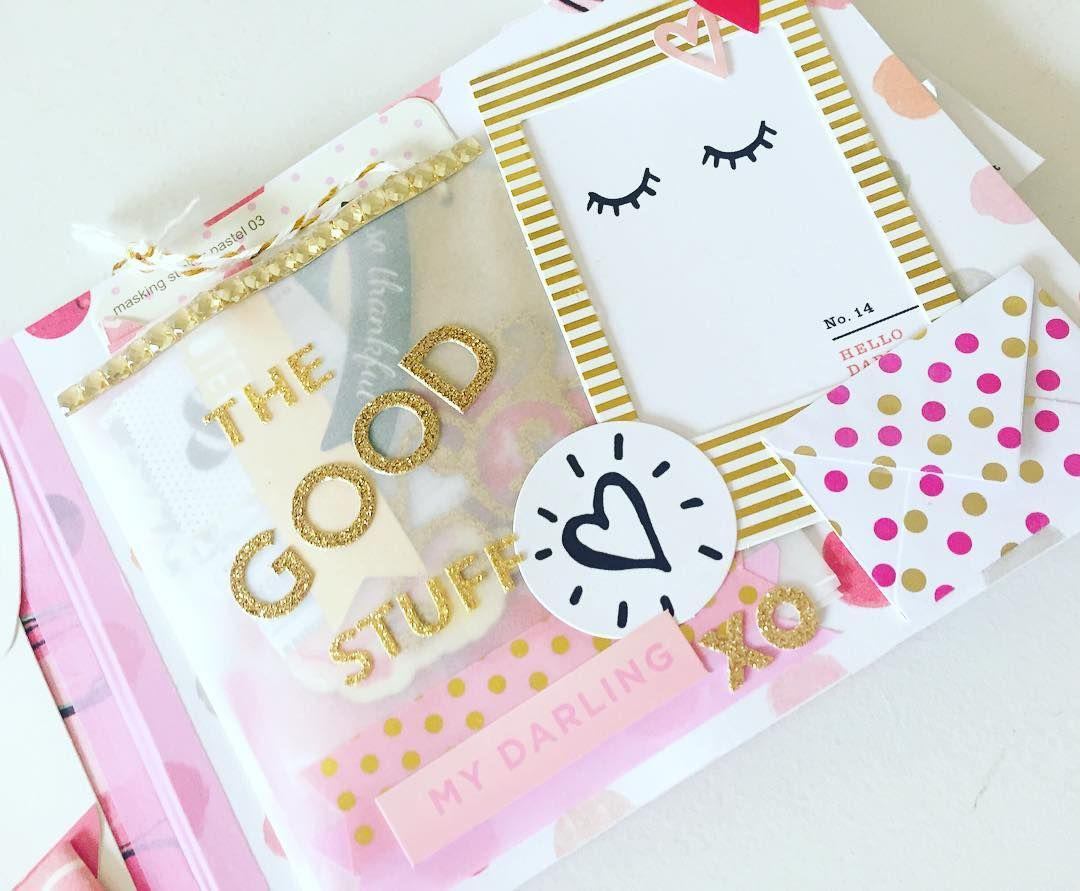 SNAIL MAIL FLIP BOOK - Loving all the pink and gold in my mailbox lately