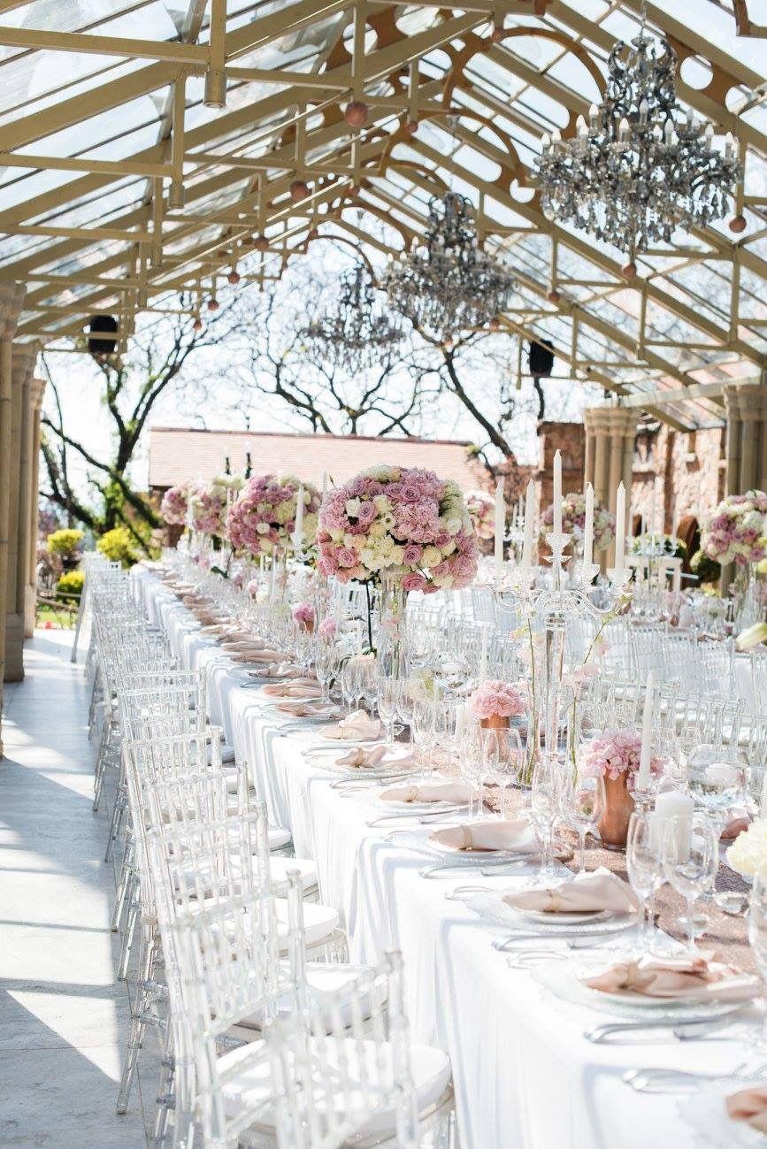 romantic and lush white and blush pink flower centerpieces using rh pinterest com Blush Pink Hydrangea Wedding Bouquet Gold Flower Centerpieces