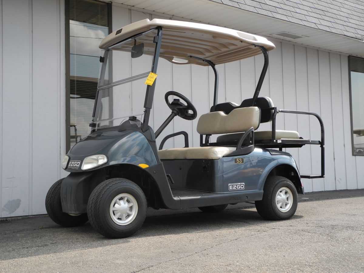 This 2010 E-Z-GO RXV electric golf car is equipped with a Steel Blue Used Electric Golf Carts Ca Html on