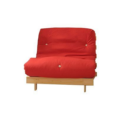Comfy Living 2ft6 Small Single Futon Set Incl Mattress And Wooden Base In Red Futonchairpatio