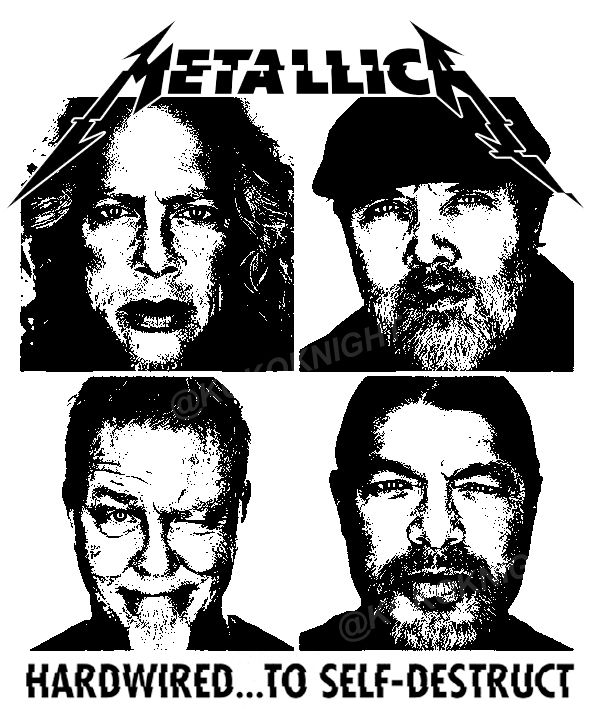 James Hetfield Guitar Drawing