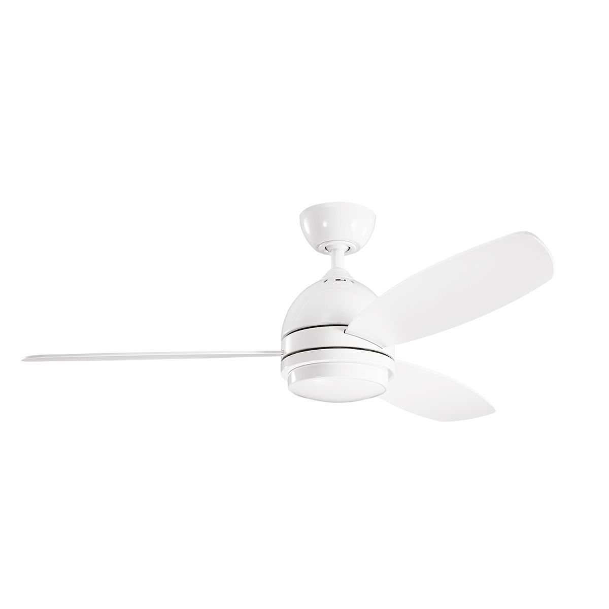 Vassar Ceiling Fan With Light By Kichler 330002wh Ceiling Fan With Light Led Ceiling Fan Ceiling Fan
