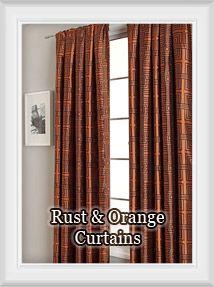 rust pumpkin copper bronze sienna terracotta bright burnt orange - Rust Color Curtains