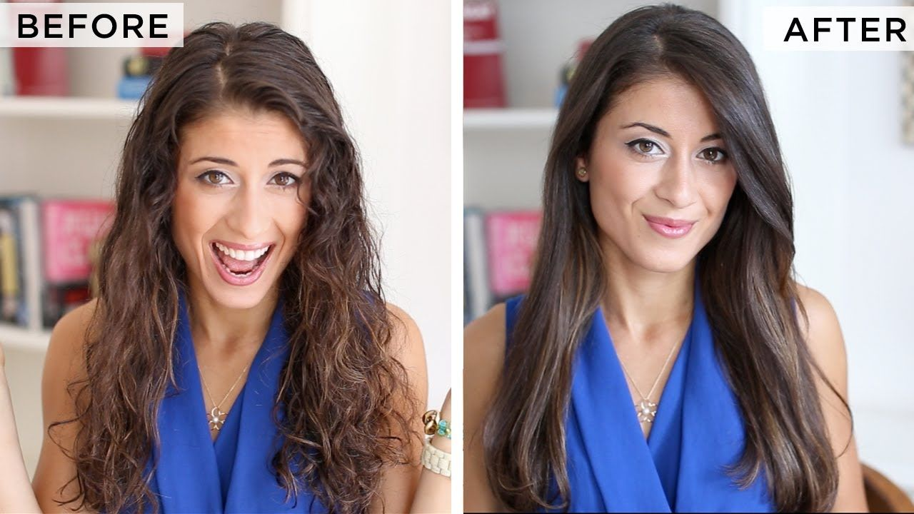 5 Ways To Get Straight Hair Naturally Dry Frizzy Hair Straight Hairstyles Hair Without Heat