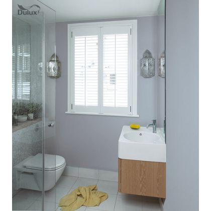 Dulux Bathroom Misty Mirror - Soft Sheen Emulsion Paint - adds a