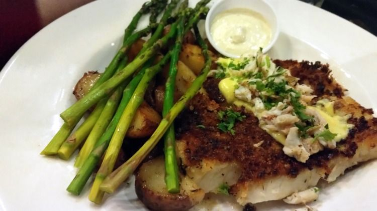 Herb Crusted Cod Oscar At Fish City Grill Food City Grill Pork