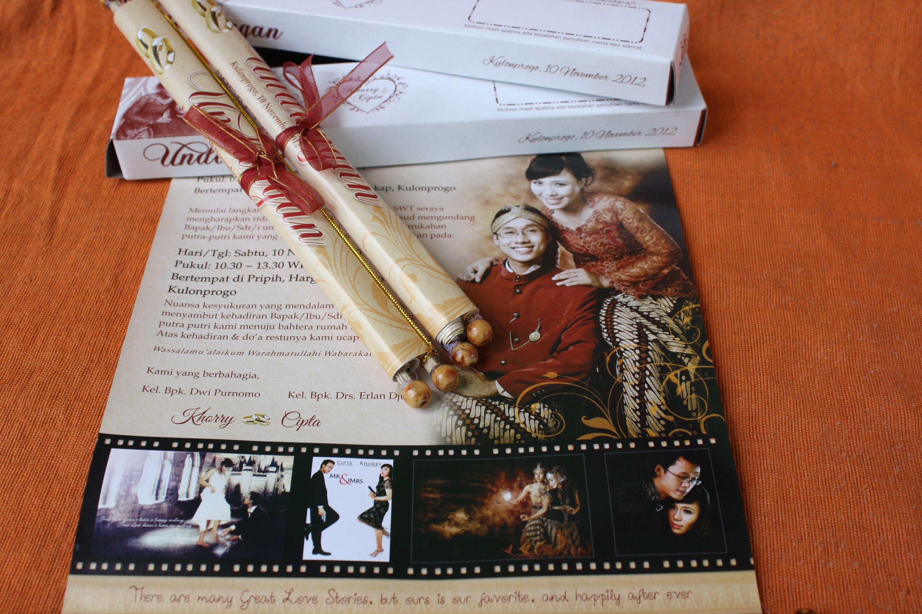 undangan gulung full colour kemasan box kertas Rp. 4500/pcs