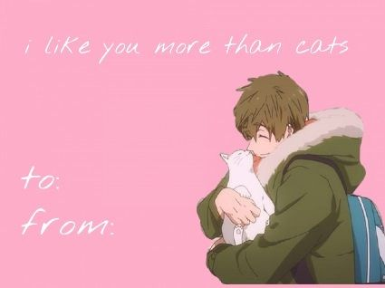 Makoto Tachibana Valentines Day Meme Free – Anime Valentines Card