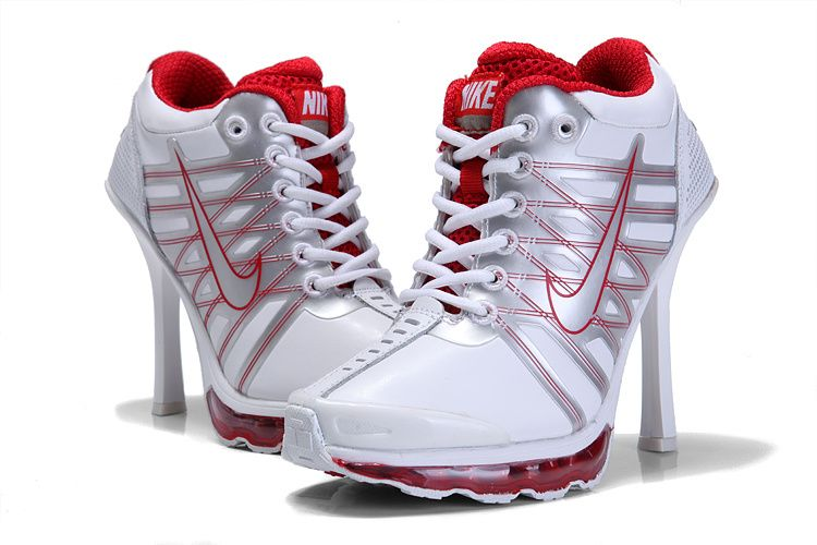 Nike Air Max 09 High Heels White Red