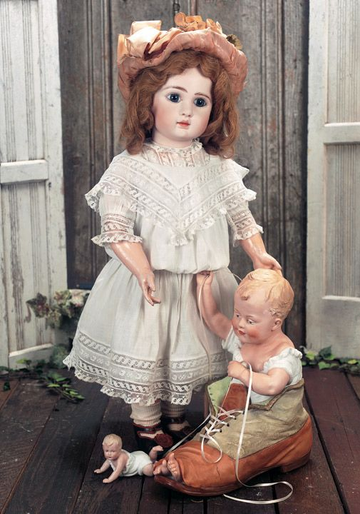 """French Bisque Bebe by Jules Steiner,Figure A,with Original Signed Body 25"""" (64 cm.)"""