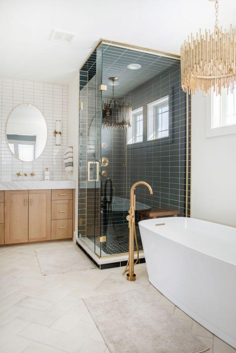 Two-Toned Master Bath | Fireclay Tile | Color Spotlight ... on green bathroom design, green bathroom sink, green ocean bathroom, green home bathroom, green spa bathroom, green modern bathroom, green orange bathroom, green white bathroom, green stone bathroom, green garden bathroom, green zebra bathroom,