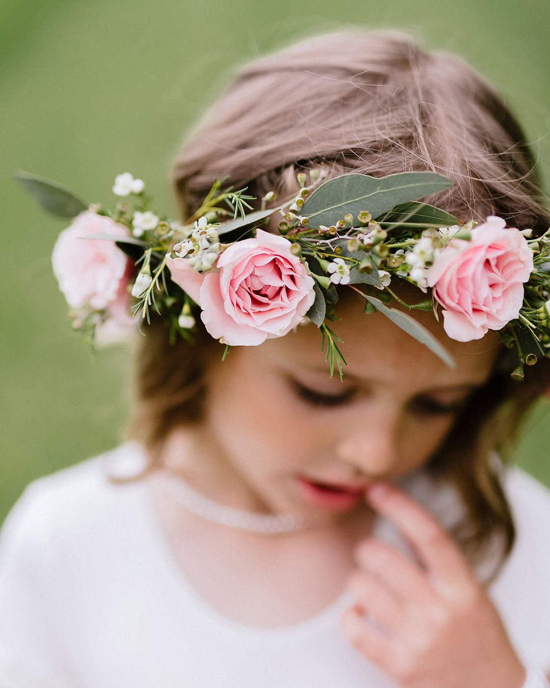 A Lovely And Sweet Garden Wedding Flower Crown For The