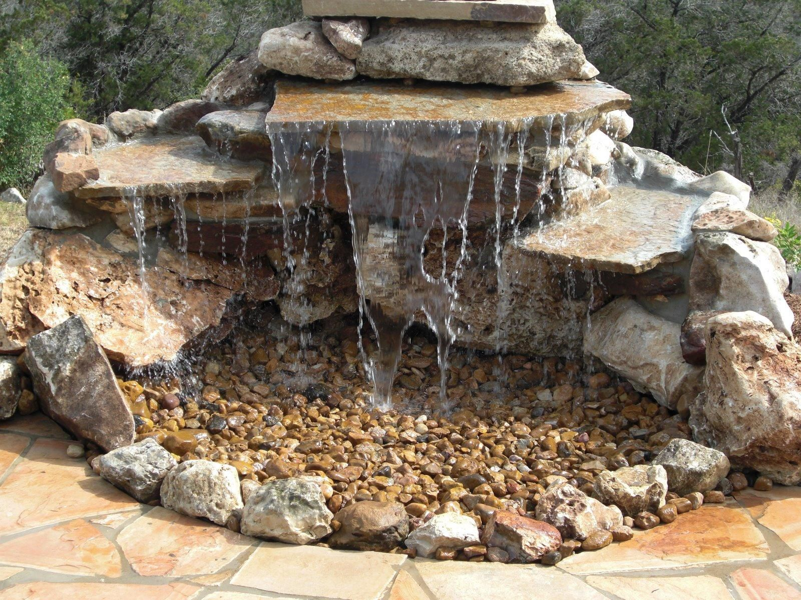 Diy Garden Fountain Diy Pond Less Waterfall This Would Make A Great Bird Bath Too For Hummingb Waterfalls Backyard Diy Garden Fountains Backyard Water Feature