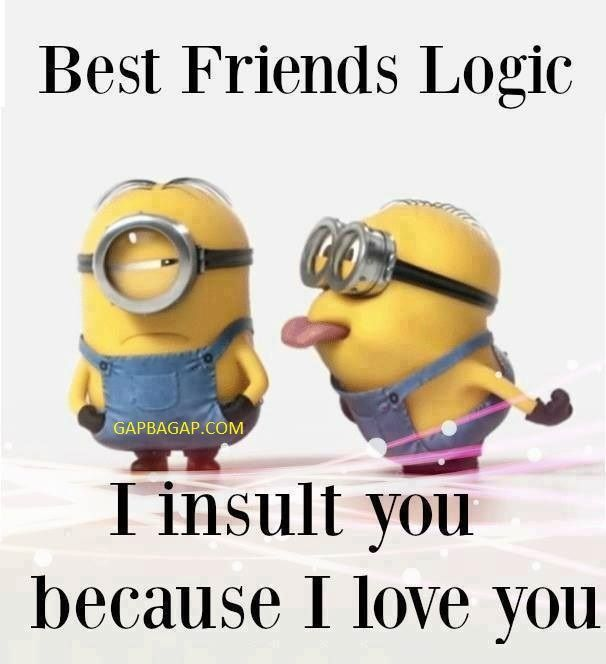 Funny Minion Quote About Friends... - friends, Funny, Funny Minion Quote, funny minion quotes, Minion, quote - Minion-Quotes.com