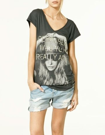 GIRL T-SHIRT - T-shirts - TRF - New collection - ZARA United States - StyleSays
