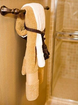 How To Display Bath Towels For The Home Pinterest Bathroom