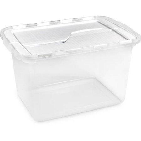Homz 12 Gallon Clear Flip Lid Storage White Lid Lid Storage Storage Containers Storage