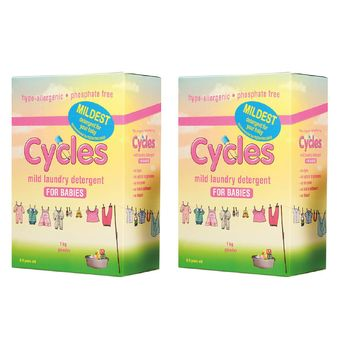 Cycles Mild Laundry Detergent For Babies 1kilo X 2pcs With