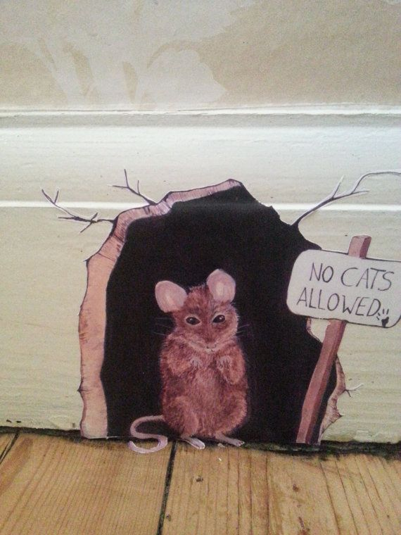 No Cats Allowed Mouse Wall Decalsticker By