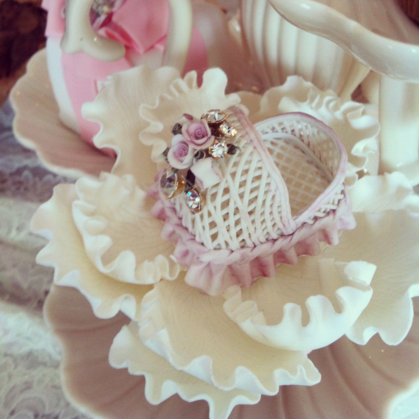 pink baby shower dessert by rafi s pastry swarovski crystal