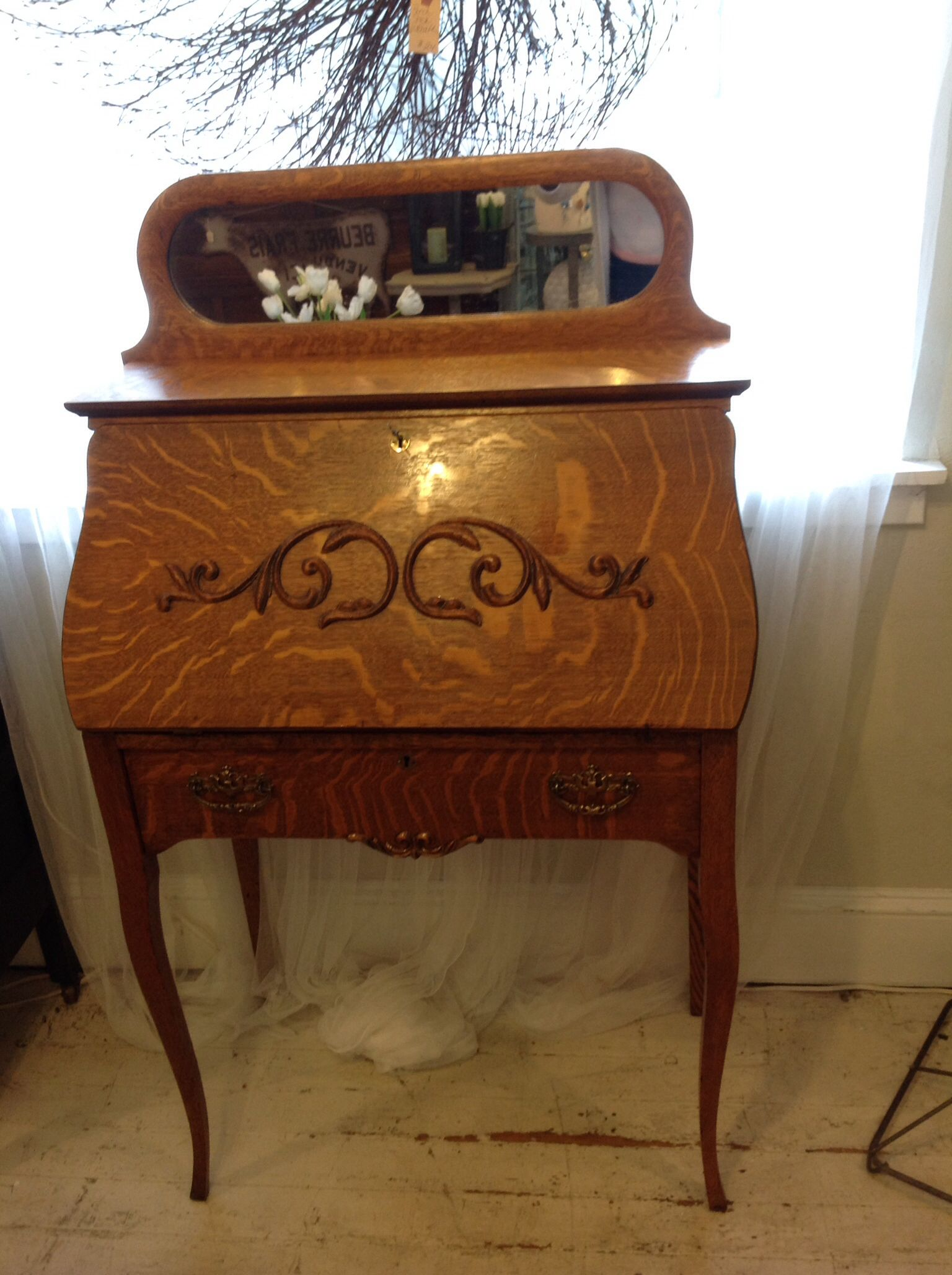Antique Larkin Desk Cottage Home