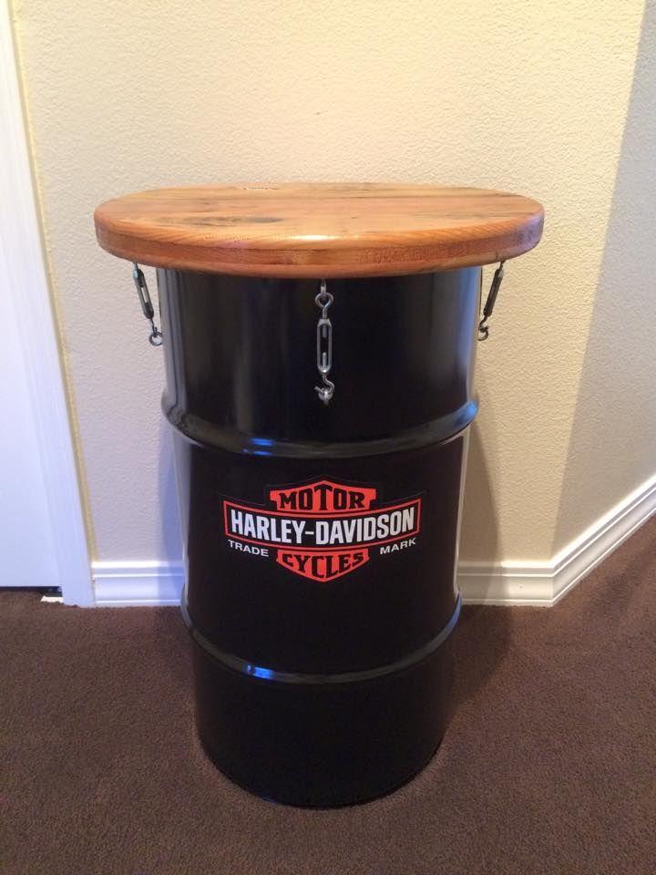 Jack Daniels oil drum table