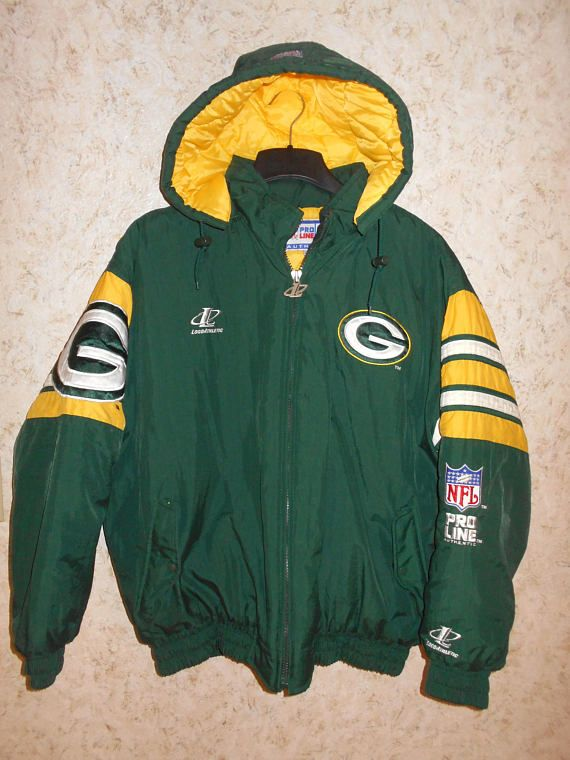 cheaper 1bc9f d9aee Vintage NFL Pro Line Green Bay Packers Jacket Coat Winter ...