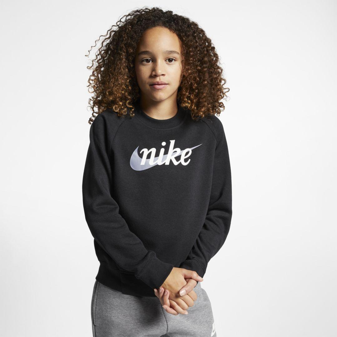 88eee891f Nike Sportswear Girls' Graphic Crew Size XS (Black) in 2019 ...