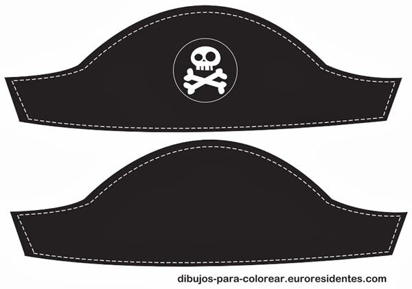 sombrero pirata para imprimir pirata Pinterest Pirate hats