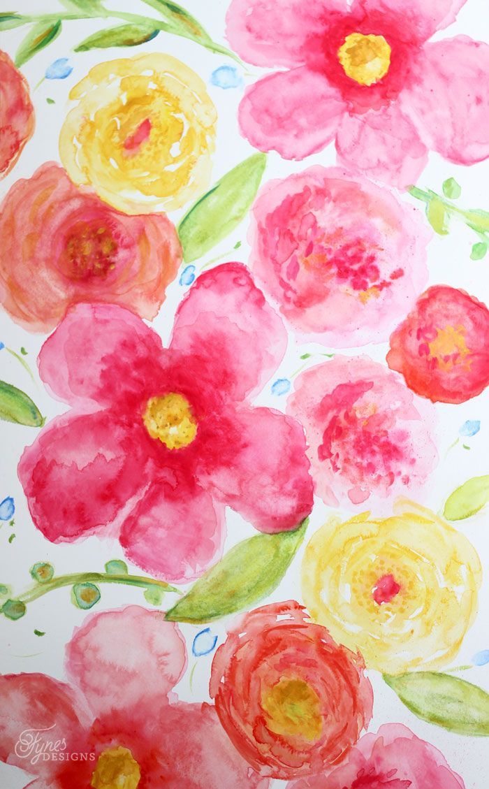 Beginner Floral Watercolor Painting Floral Watercolor