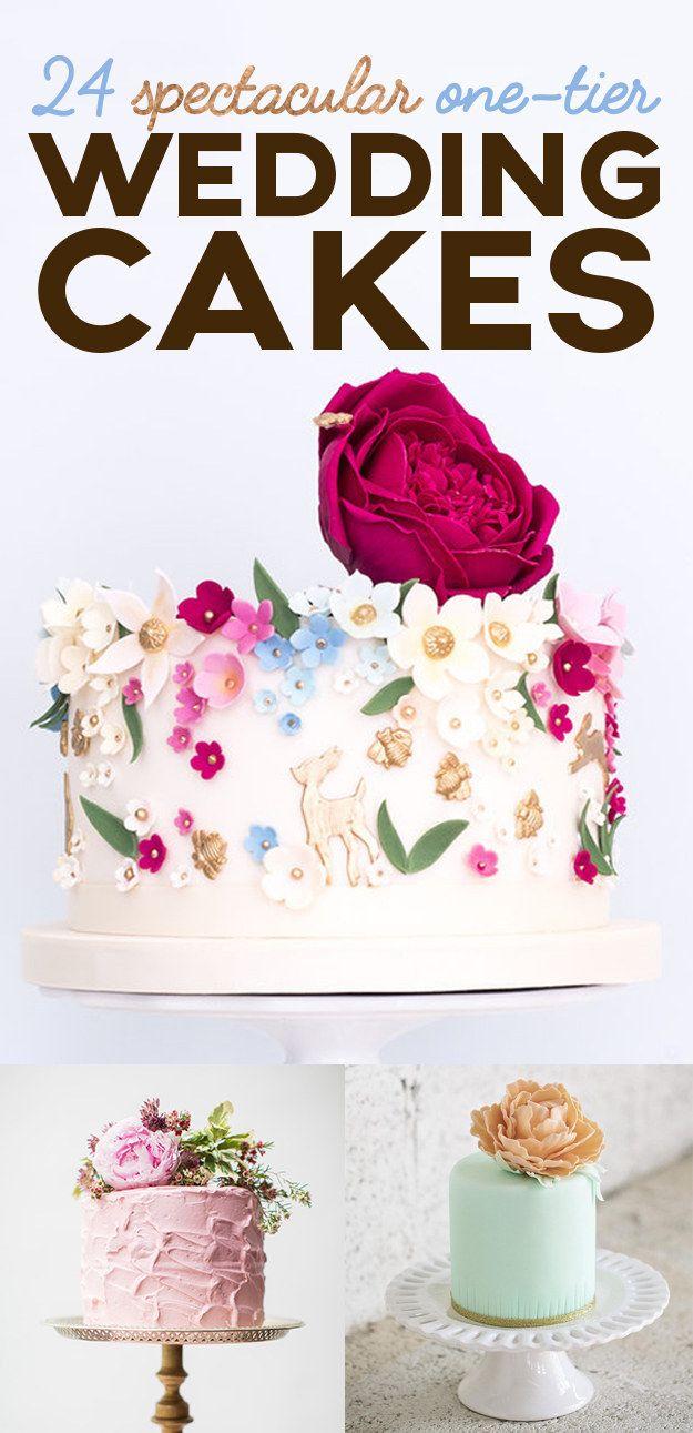 spectacular onetier wedding cakes weddings pinterest
