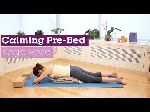 a calming prebed yoga pose  youtube  bed yoga poses