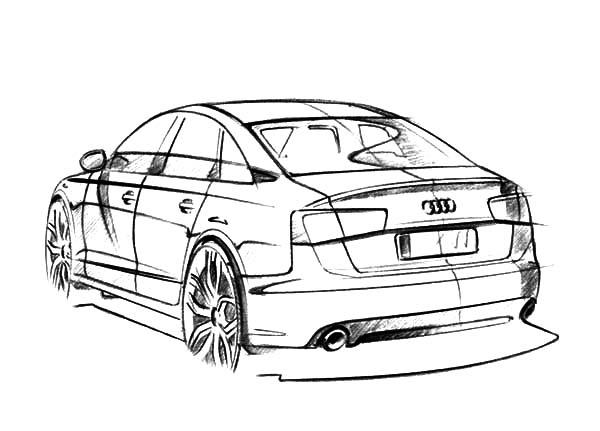 Pin By Bulkcolor On Coloring Books Car Design Sketch Audi A6 Audi Cars